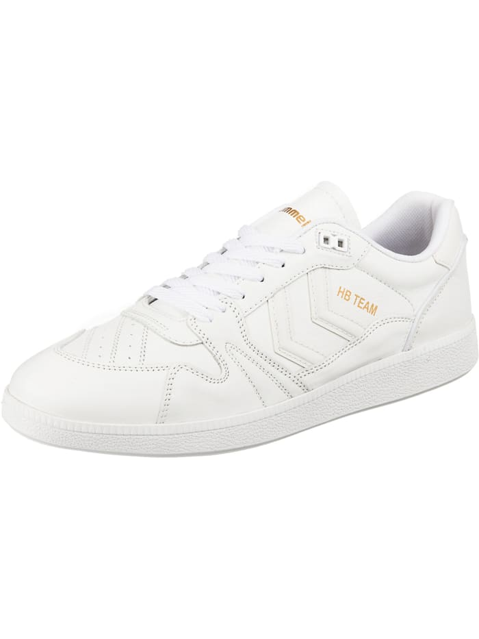 Hummel Hb Team Leather Sneakers Low, weiß