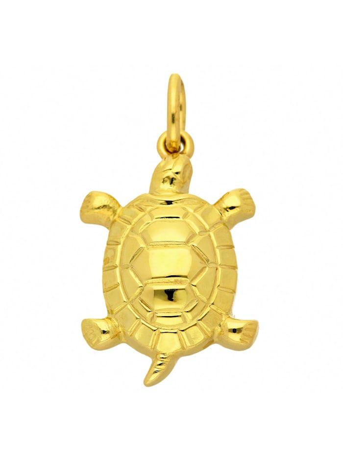1001 Diamonds Damen Goldschmuck 585 Gold Anhänger Schildkröte, gold