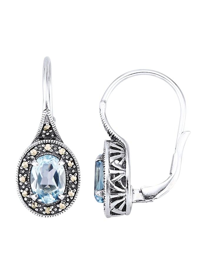 Esse Ohrringe in Silber 925, Blau