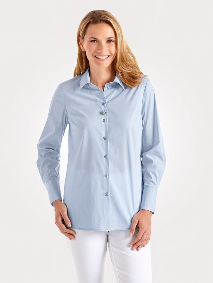 MONA Bluse mit Baumwolle, Hellblau
