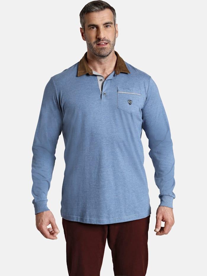 Charles Colby Charles Colby Langarm-Poloshirt EARL TERRY, blau