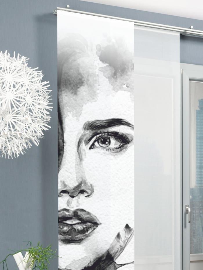Home Wohnideen Panneau japonais 'FACE RIGHT', Gris