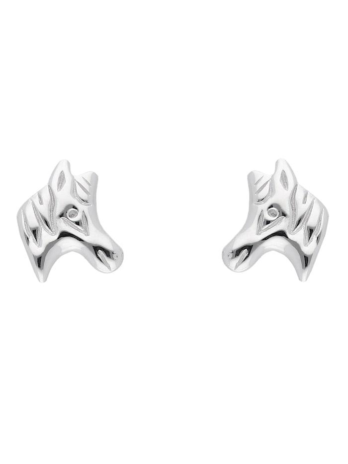 1001 Diamonds 1001 Diamonds Damen Silberschmuck 925 Silber Ohrringe / Ohrstecker Pferdekopf, silber