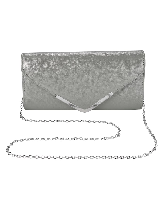 Tamaris Clutch in elegant model, zilverkleur