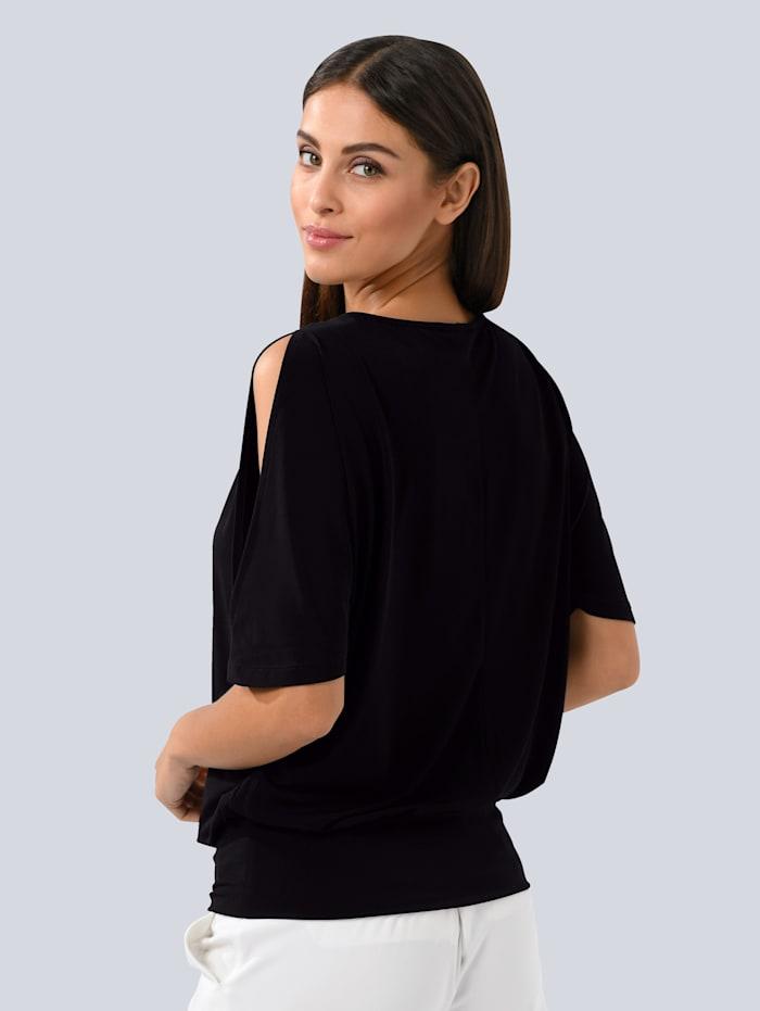 Shirt mit Ton-in-Ton Pailletten am Ausschnitt