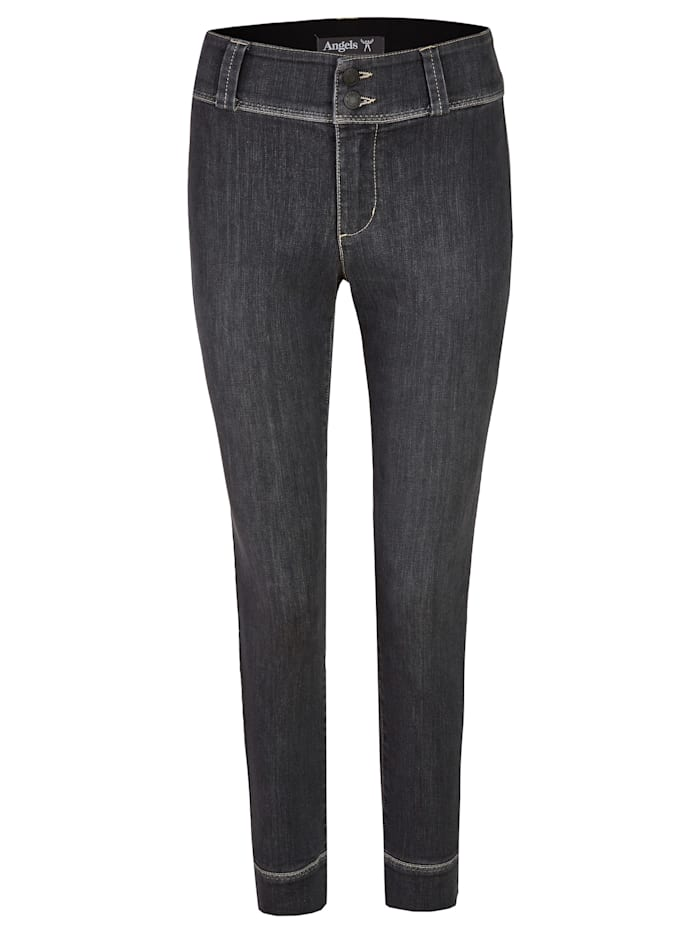 Angels Jeans ,Kim Sporty' mit 7/8-Länge, grey used buffi crinkle