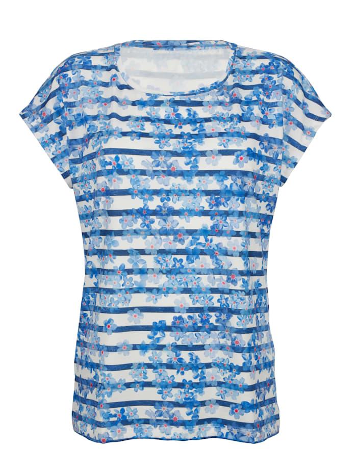 Shirt mit Streifen und Blumendruck