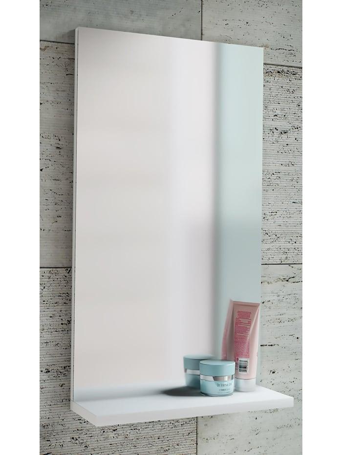 VCM Holz Wand Badspiegel Sesal mit Ablage, Weiß