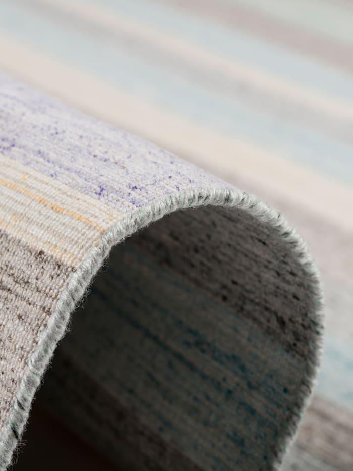 Theko®die Markenteppiche Natur Teppich Kelim Capri Streifen, Weiß