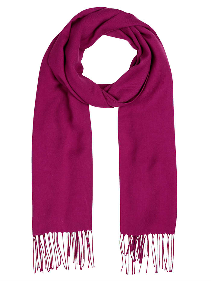 m. collection Sjaal met modieuze franjes, Berry