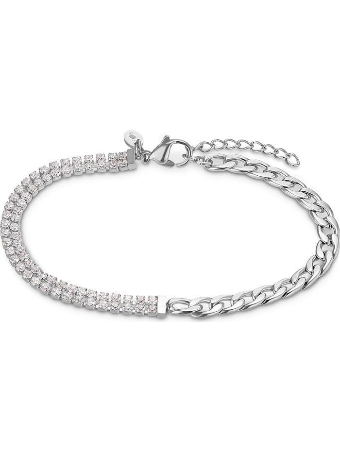 FAVS. FAVS Damen-Armband Edelstahl 62 Zirkonia, silber