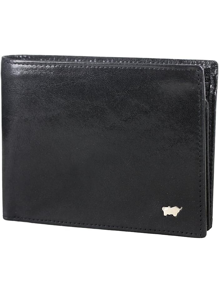 Braun Büffel Basic Geldbörse X Leder 12,5 cm, schwarz