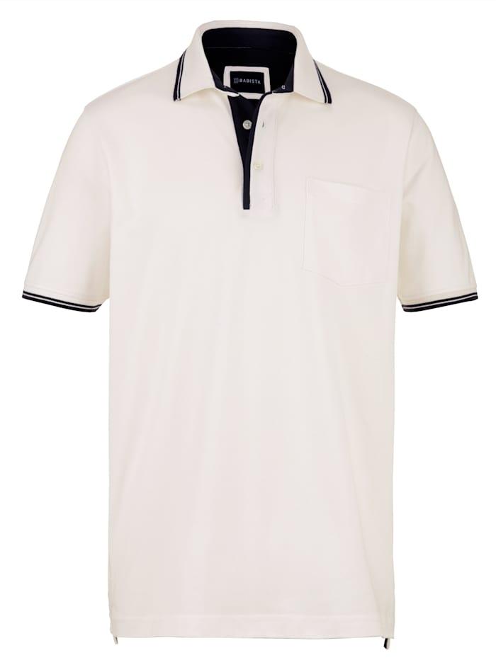 BABISTA Polo à poche poitrine, Blanc