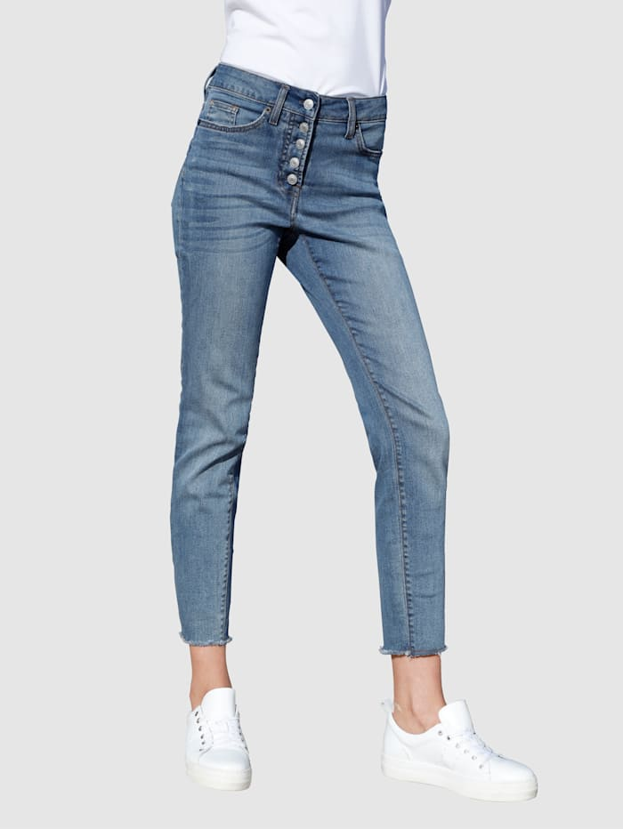 Dress In Jeans in extra smal model, Blue bleached