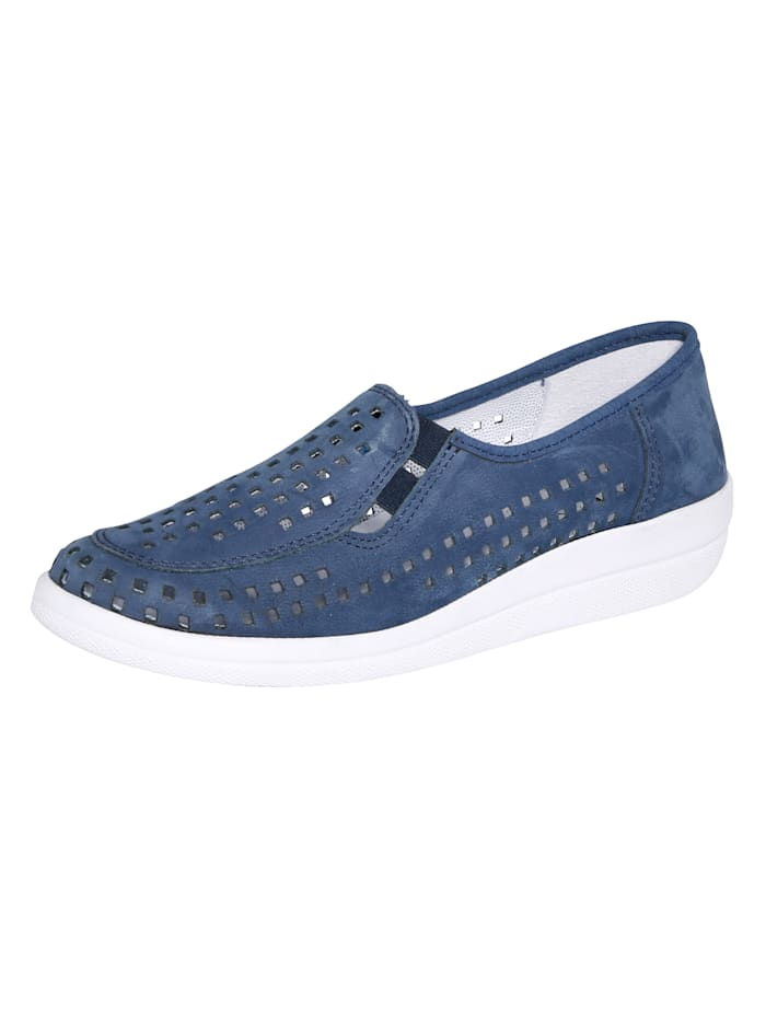 Naturläufer Slip-on shoes with airy cutout detailing, Blue