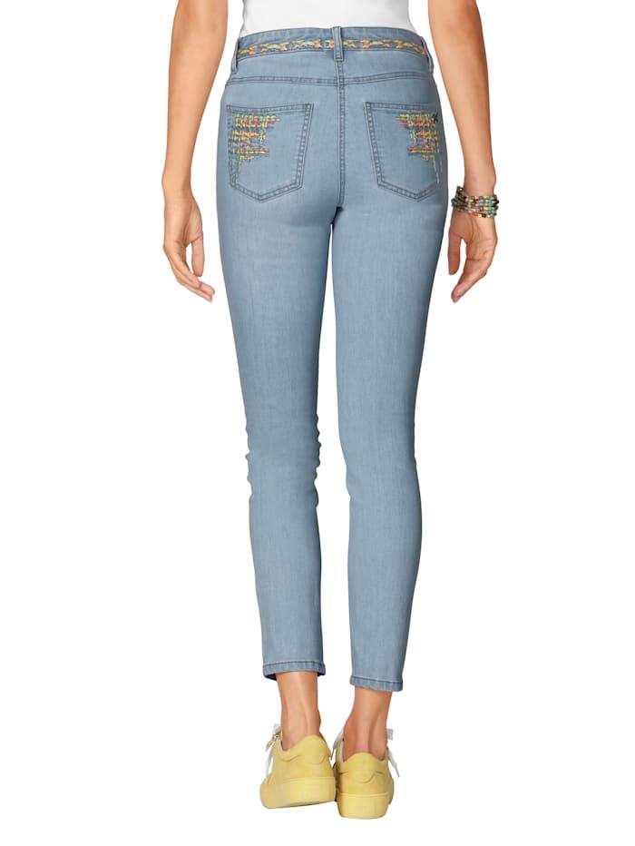 Jeans met kleurrijk borduursel