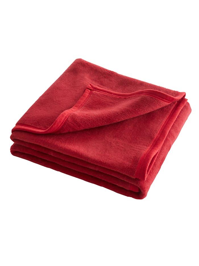 Webschatz Pläd, enfärgad, Röd