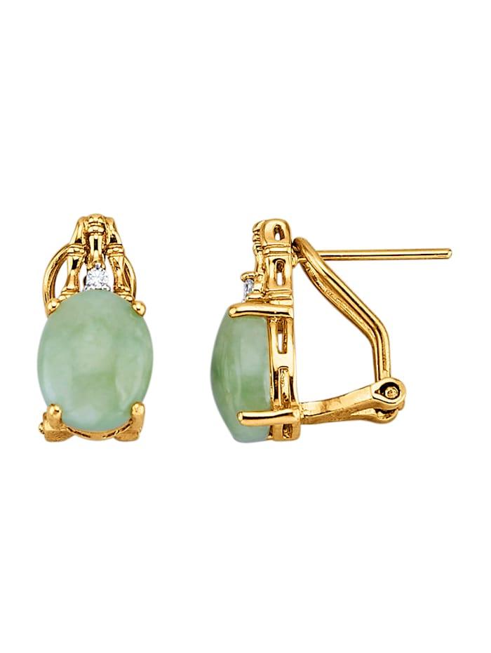 Clip-Stecker mit Jade, Grün