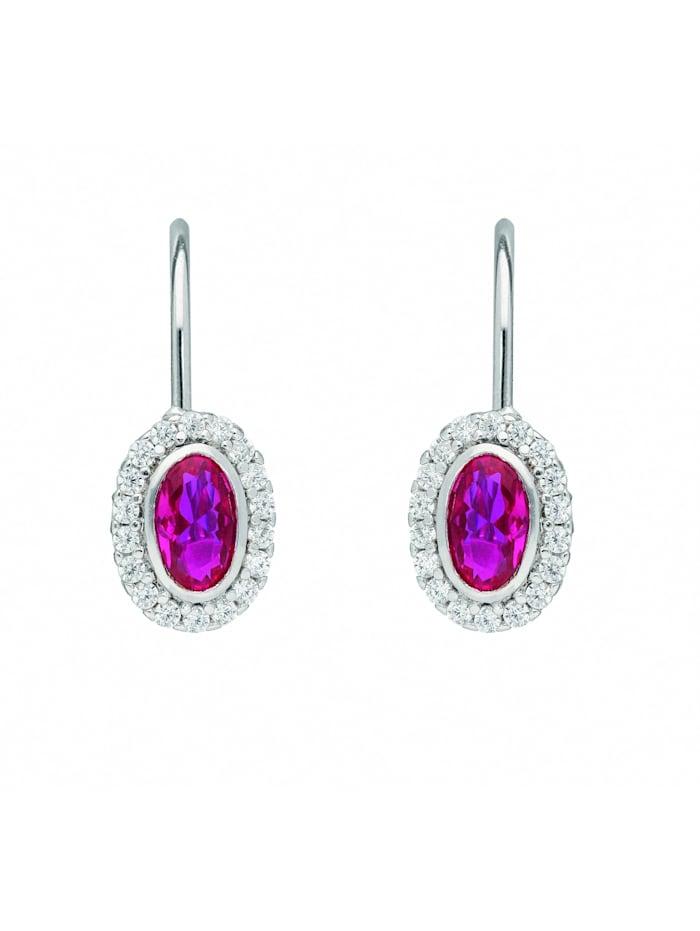 1001 Diamonds Damen Silberschmuck 925 Silber Ohrringe / Ohrhänger mit Zirkonia, bunt