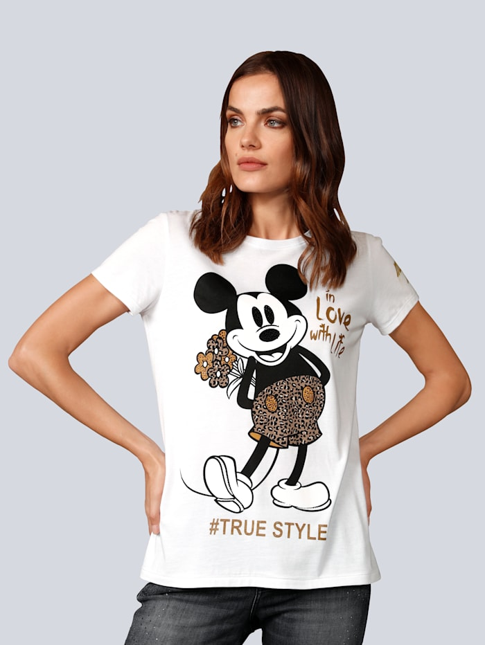 Princess GOES HOLLYWOOD Shirt mit Mickey Mouse, Weiß