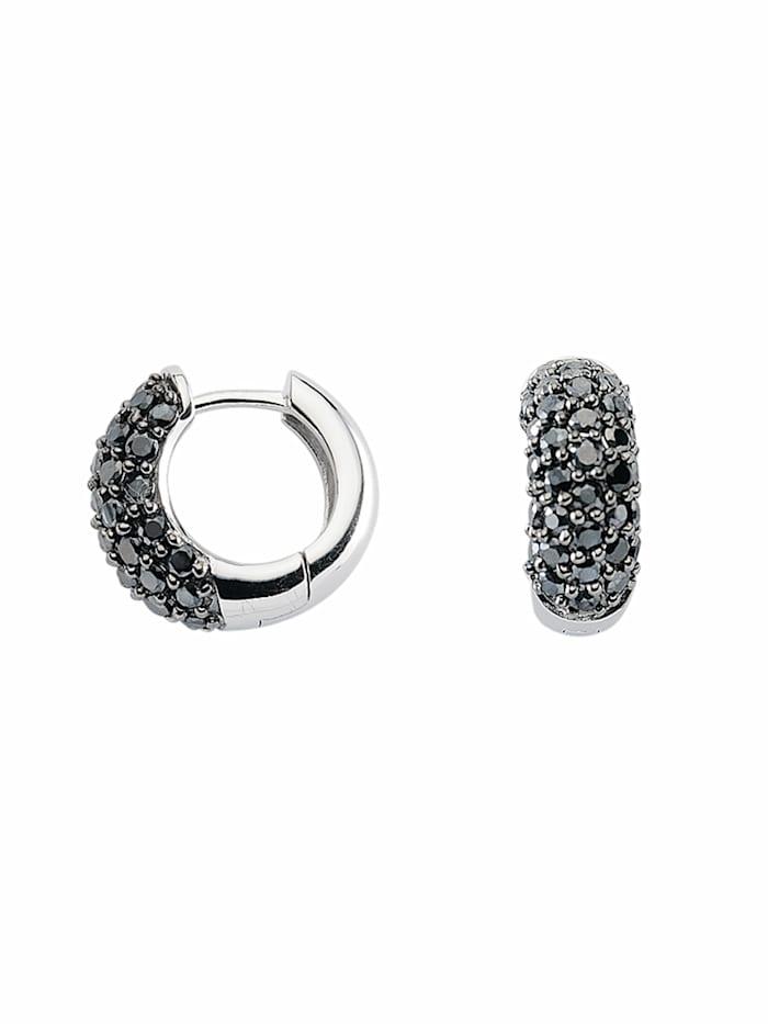 1001 Diamonds 1001 Diamonds Damen Silberschmuck 925 Silber Ohrringe / Creolen mit Zirkonia Ø 16 mm, bunt