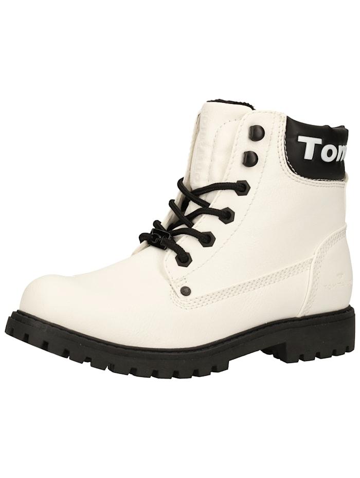 Tom Tailor Tom Tailor Stiefelette, Weiß