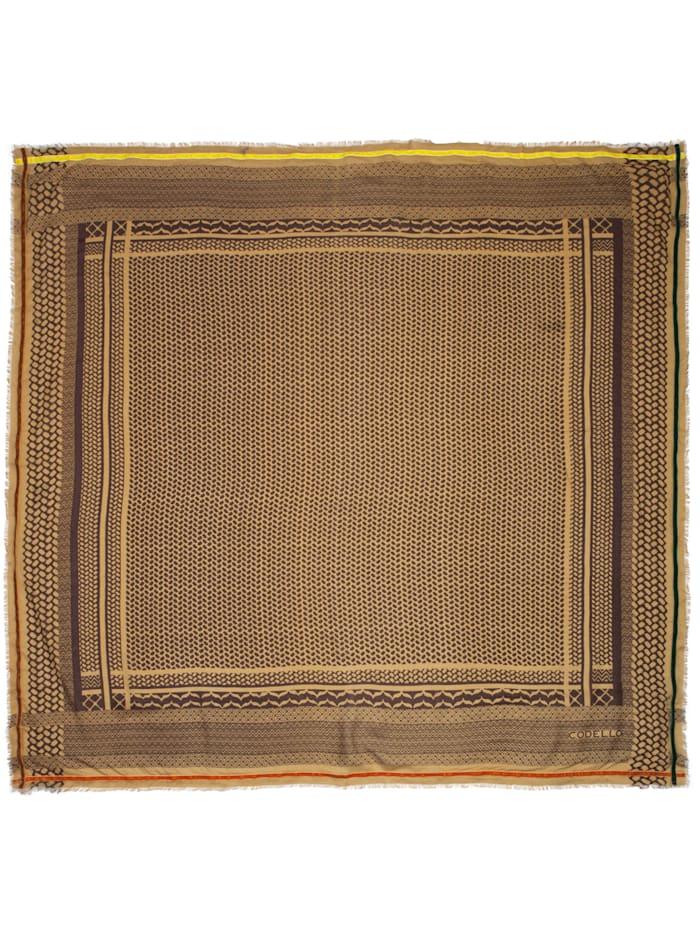 Softes Viskose-Tuch mit stylischem Minimal-Dessin