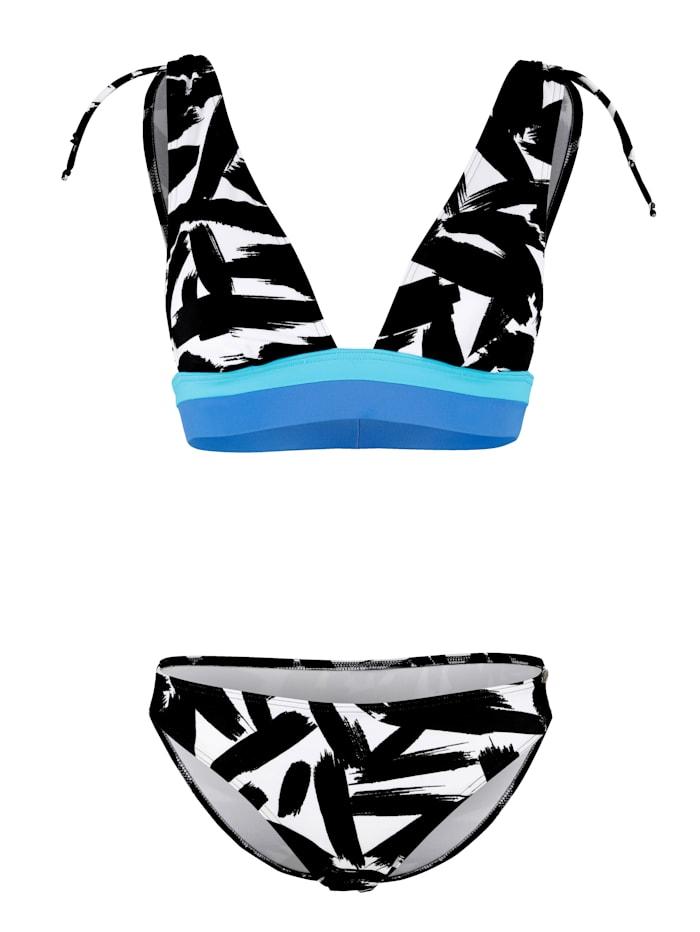 Sunflair Bikini forme bustier, Noir