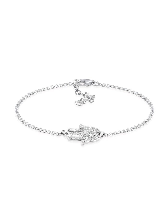 Elli Armband Hamsa Hand Der Fatima Kristalle 925 Silber, Silber