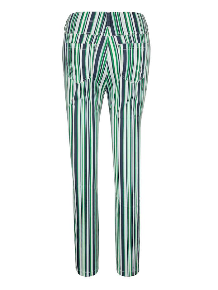 Trousers in a striped design