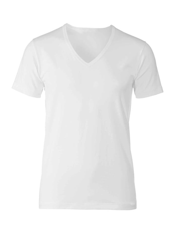 Calida T-Shirt, V-Neck STANDARD 100 by OEKO-TEX zertifiziert, White