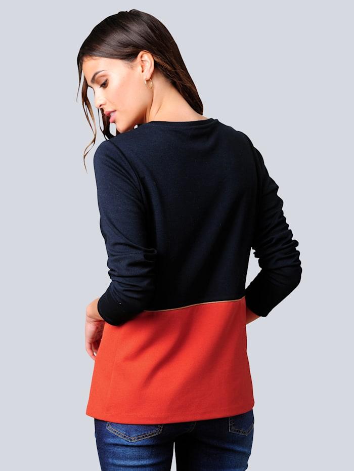 Shirt im Colour-Blocking