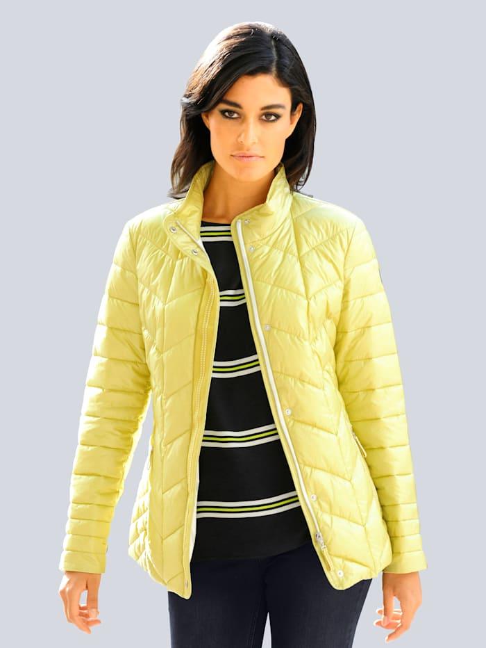 Alba Moda Gewatteerde jas in sportieve stijl, Citroen
