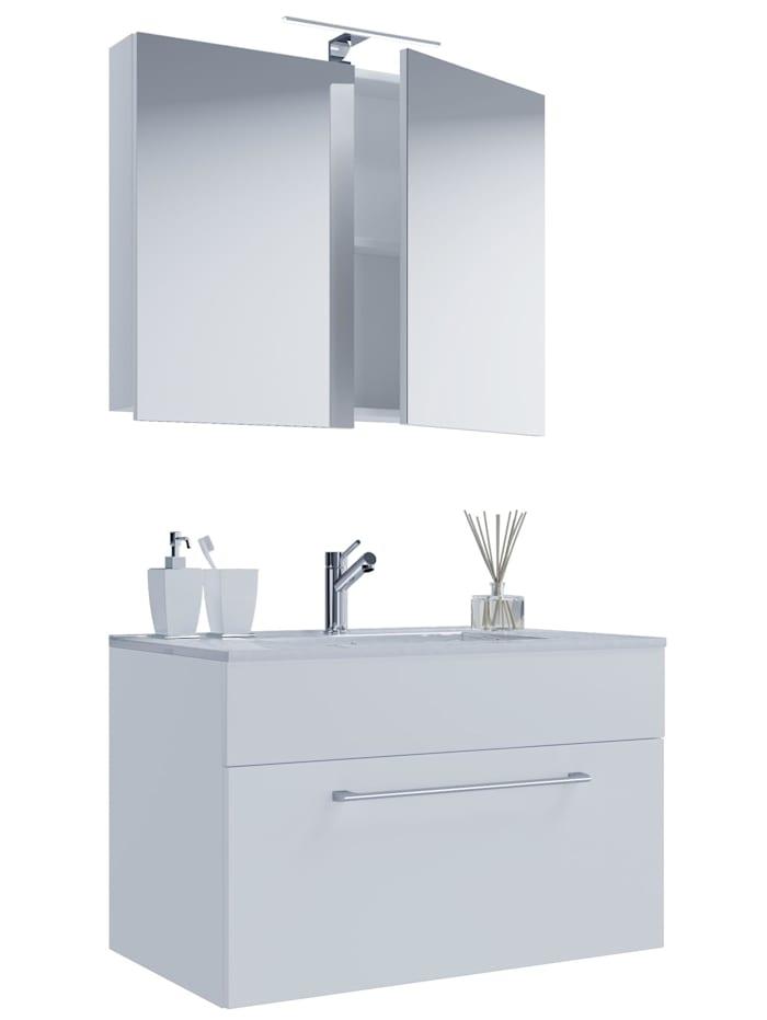 3.-tlg. Waschplatz Waschtisch Wonda Spiegelschrank