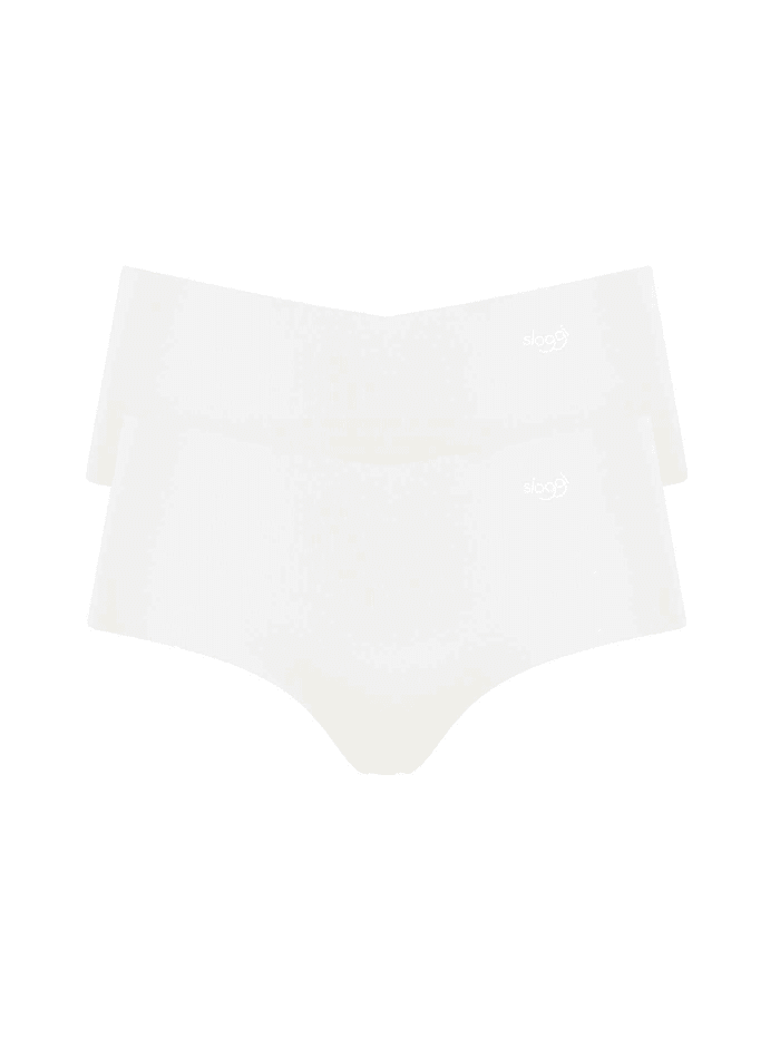 sloggi Highwaist-Panty, 2er-Pack Ökotex zertifiziert, Silk White