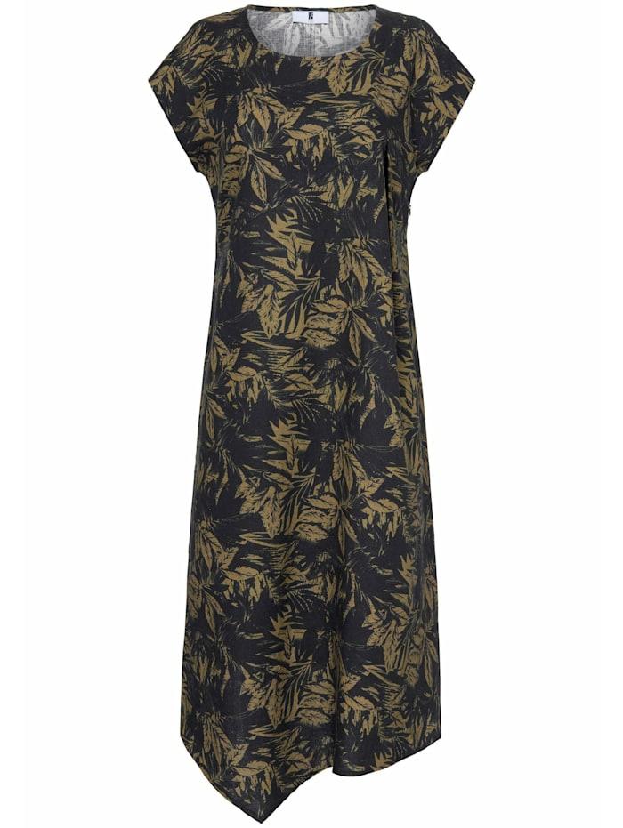 Anna Aura Leinenkleid Kleid aus 100% Leinen, schwarz/oliv