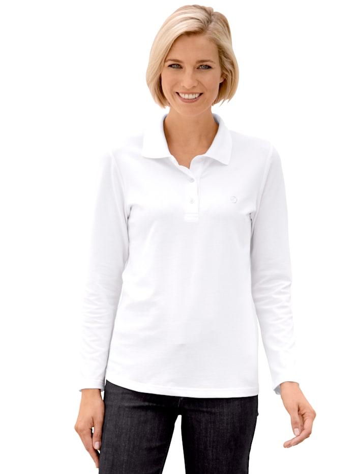 Polo shirt made from soft piqué cotton