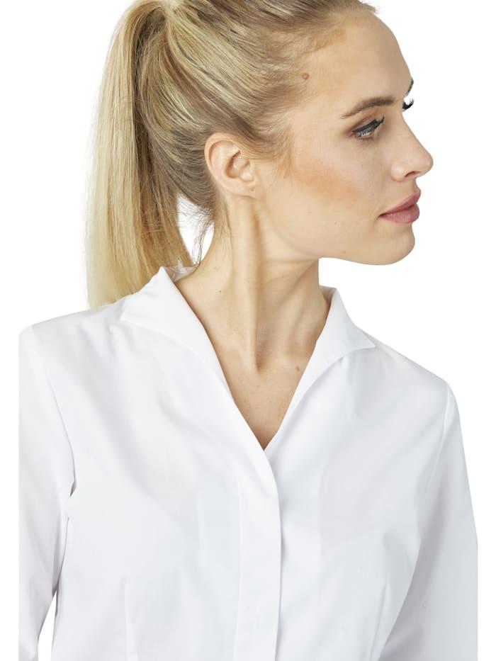 Moderne Bluse mit Stehkragen