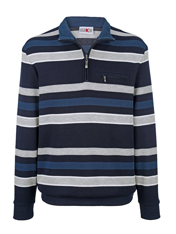 Roger Kent Randig sweatshirt, Marinblå/Grå