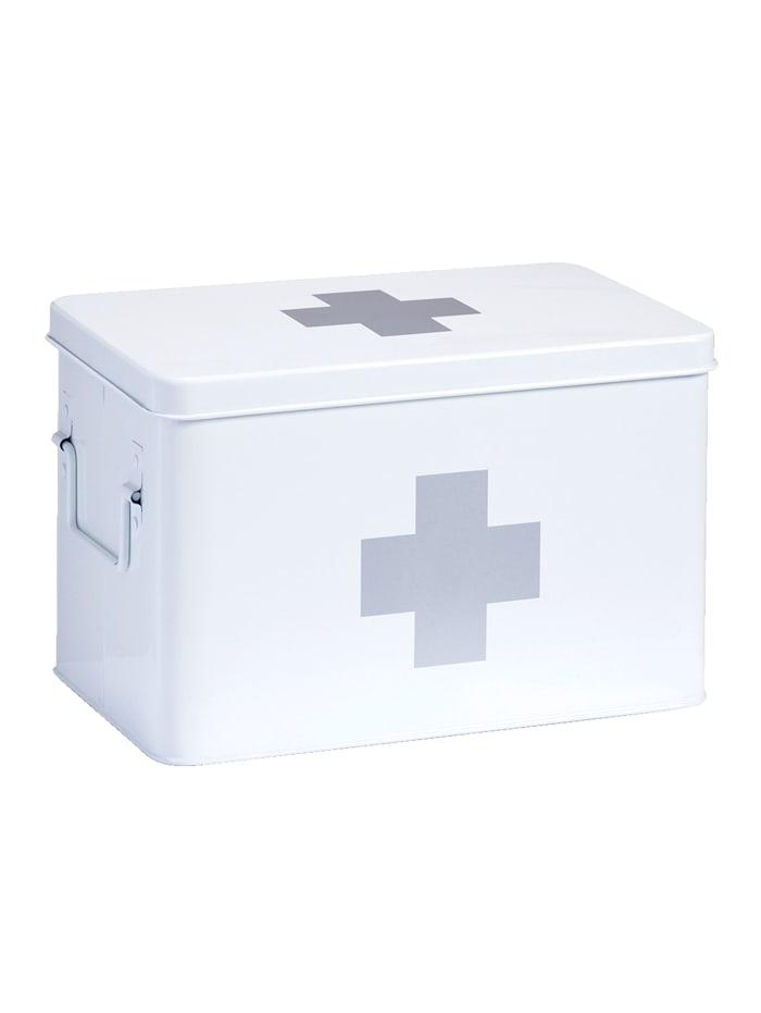Zeller Boîte à pharmacie, 20 x 32 x 19,5 cm, Blanc