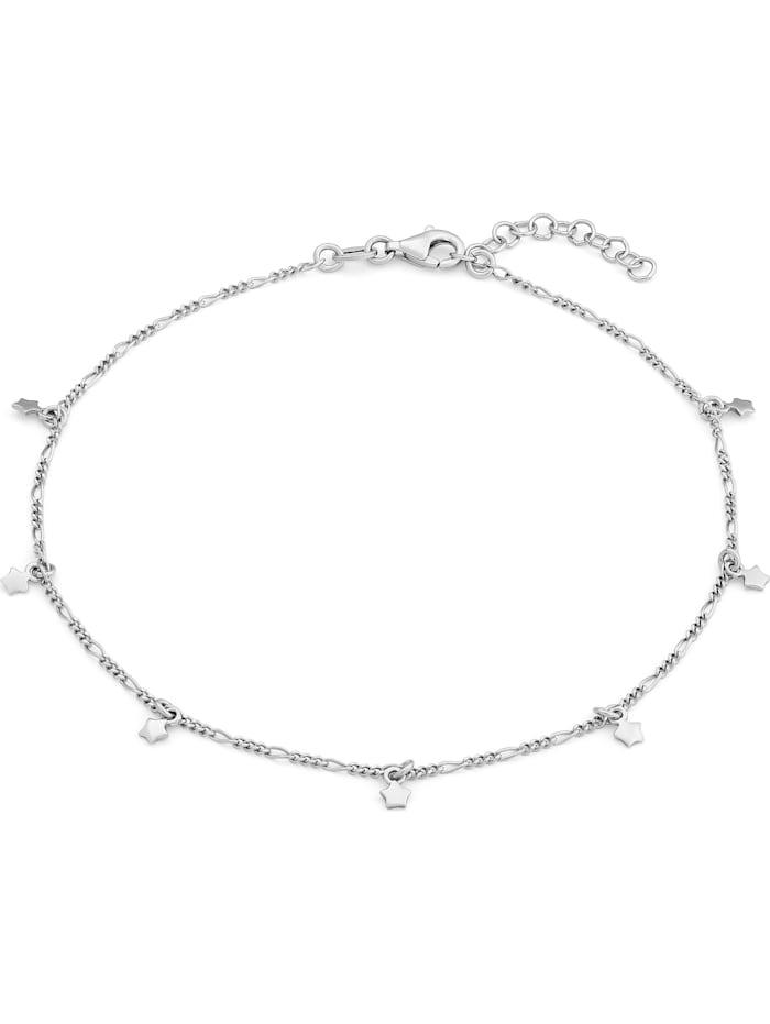 FAVS. FAVS Damen-Fußkette STERN 925er Silber rhodiniert, silber