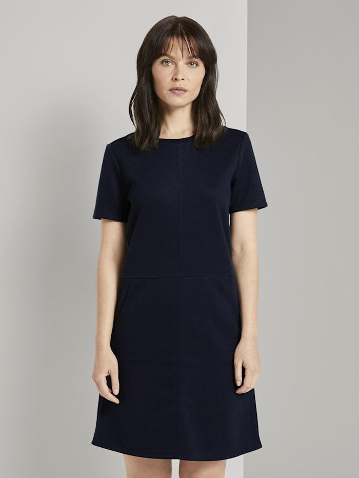 Tom Tailor Kurzarm-Kleid mit Taschen, Sky Captain Blue