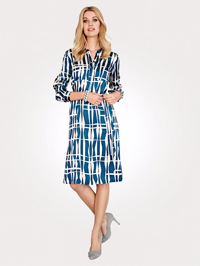 Dress with graphic pattern