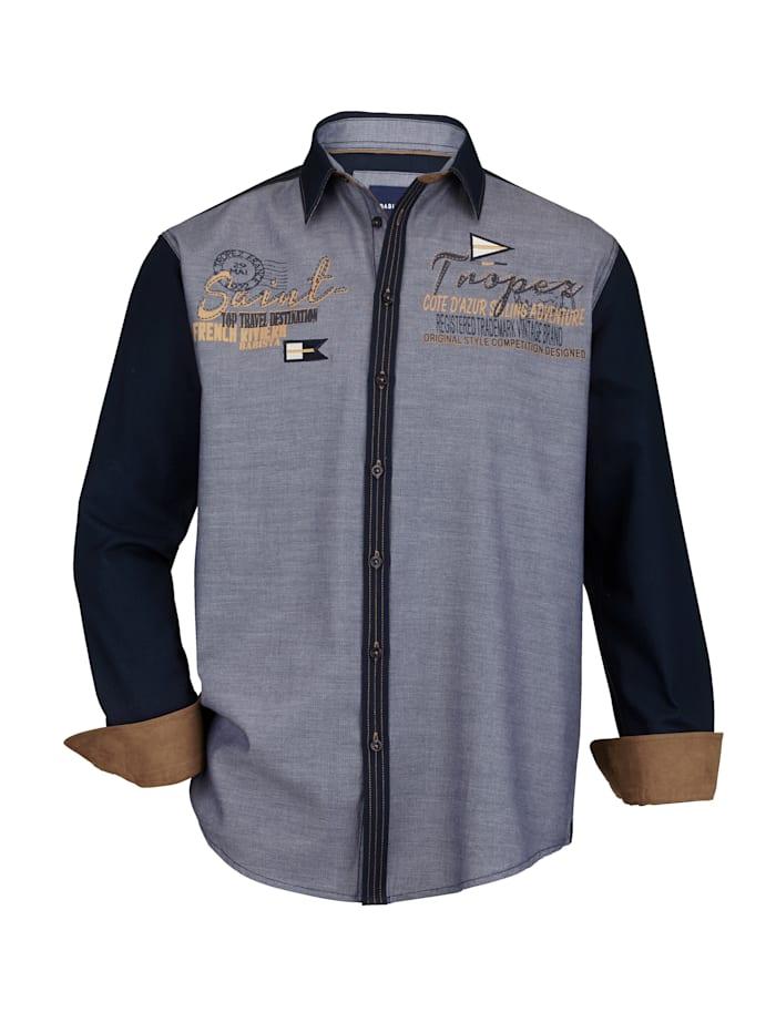BABISTA Hemd aus leichter Strukturware, Blau