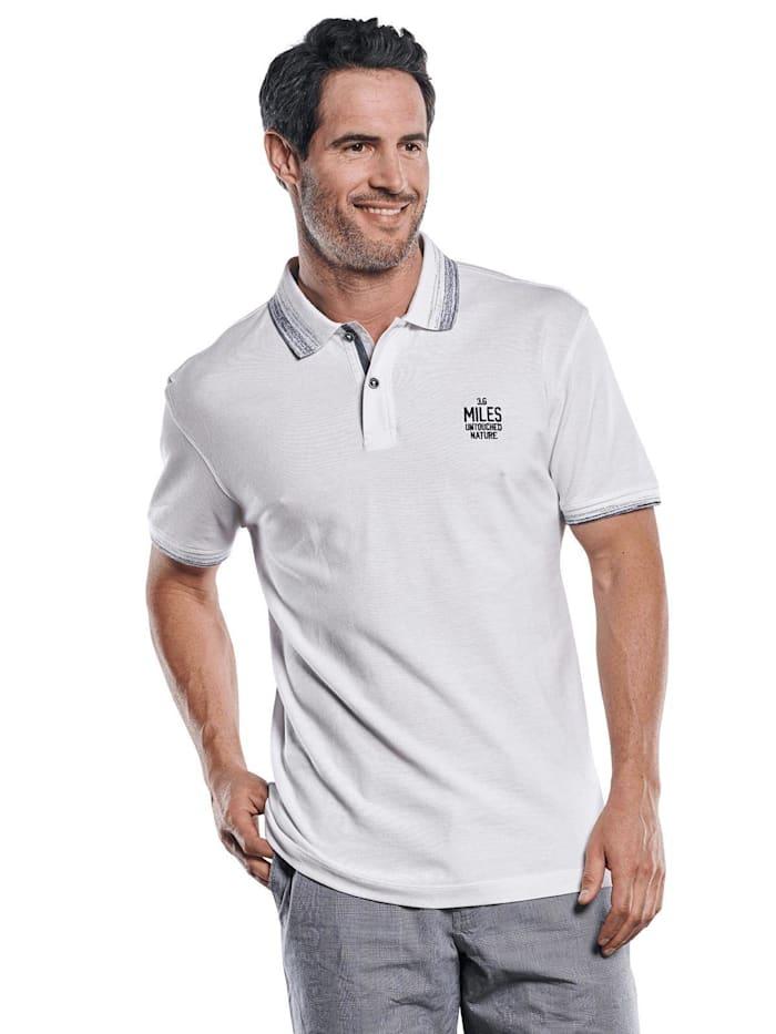 Engbers Sportives Poloshirt mit angesagten Kontrastdetails, Reinweiss