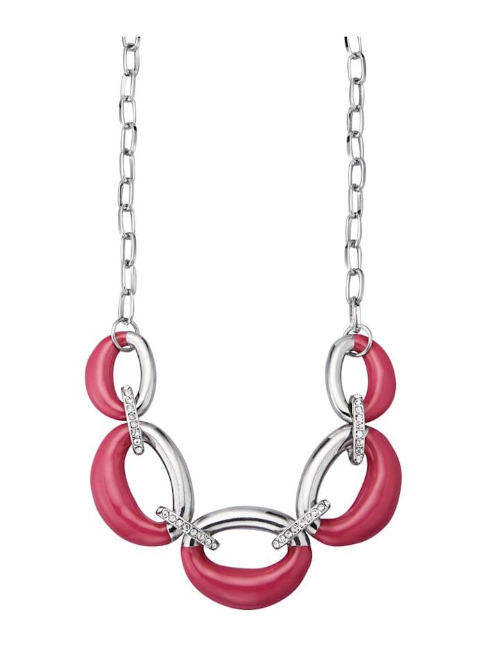 KLiNGEL Collier mit Glassteinen, Pink