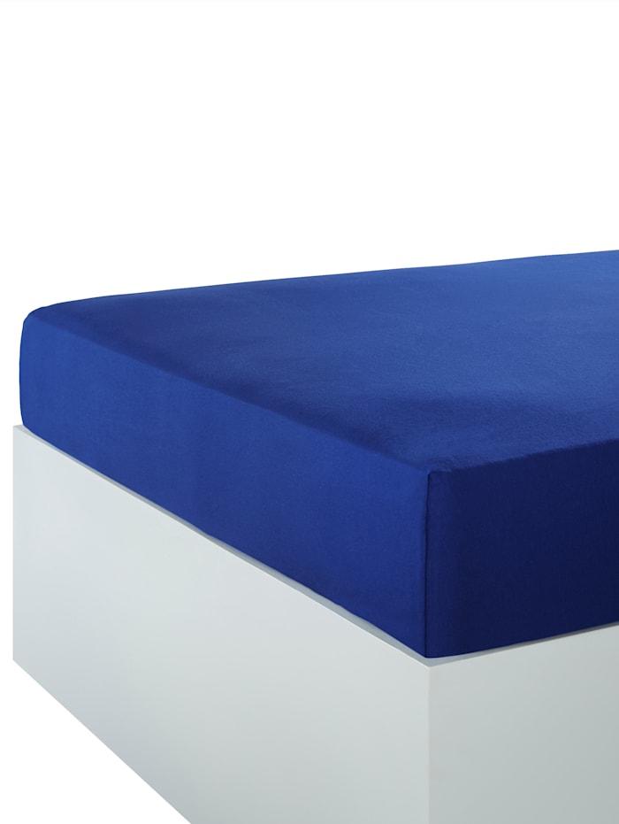 Webschatz Fein Jersey Spannbettlaken, dunkelblau