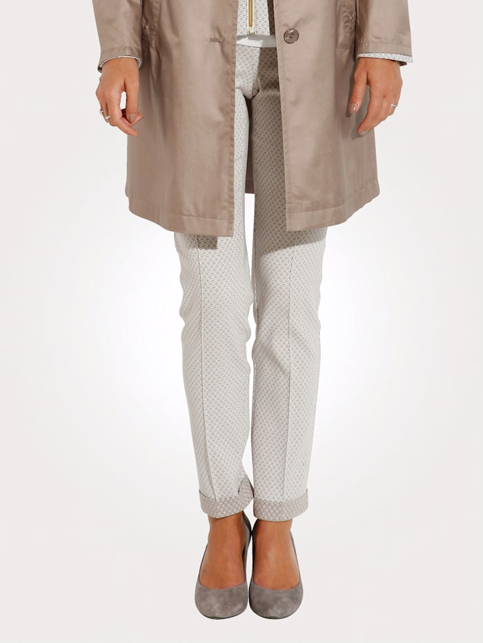 Trousers in jacquard jersey
