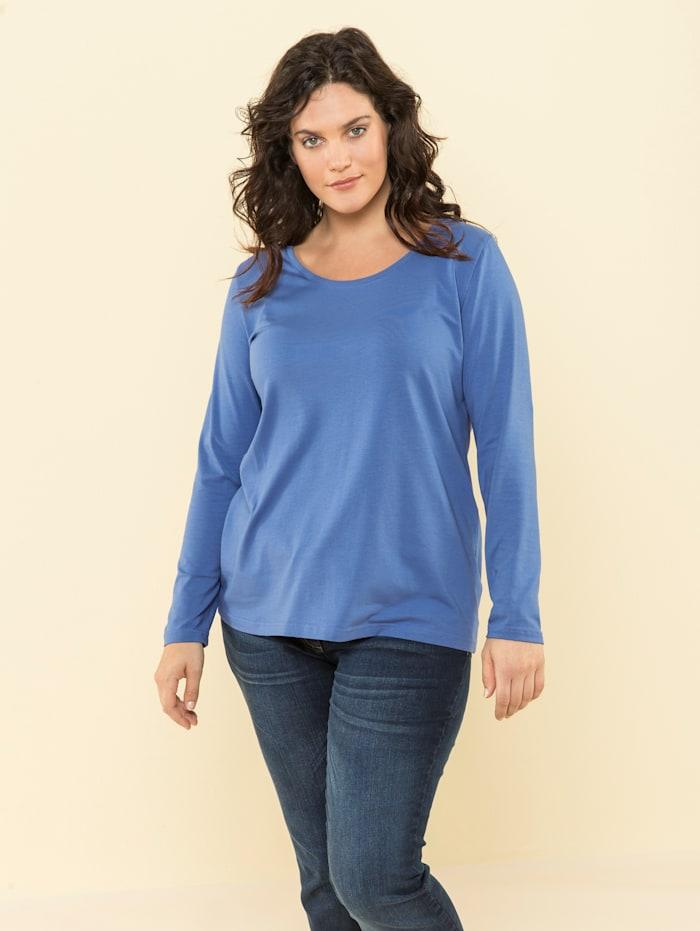 Janet & Joyce Basic shirt, Blauw