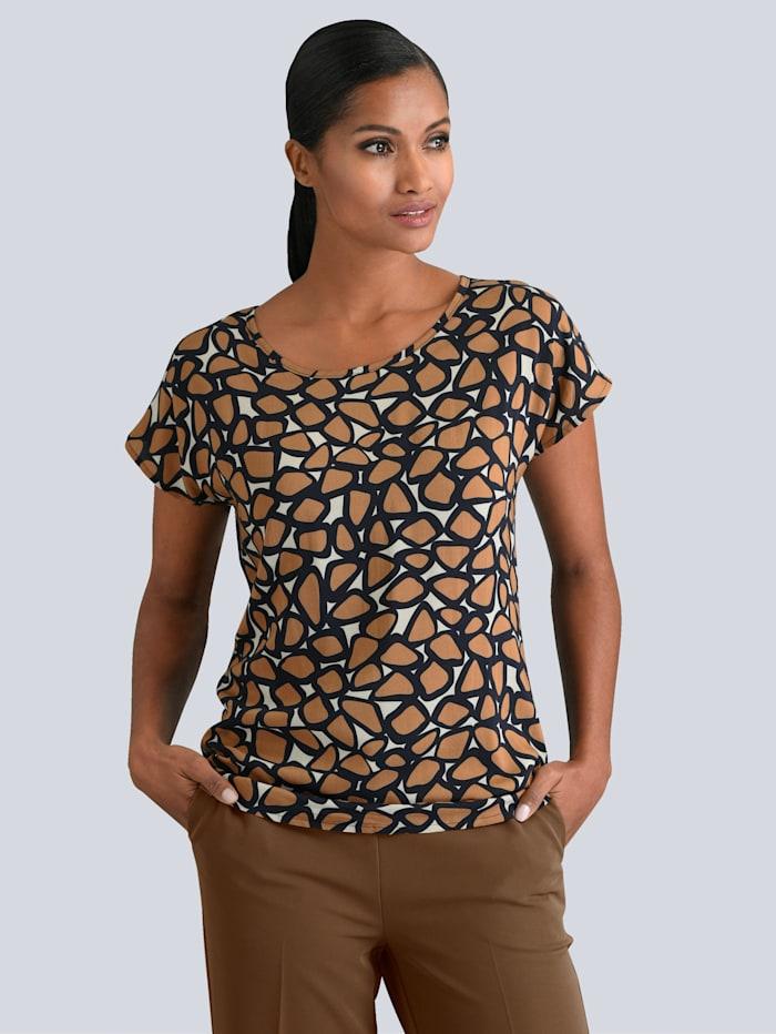 Shirt mit grafischem Print im Vorderteil